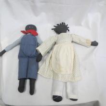 Pair of Black Americana Dolls
