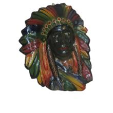 Beautiful Vintage Paper Mache Native American Indian Chief