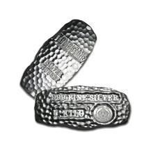 1 Kilo Arizona Scottsdale Mint .999 Fine Silver Nugget - REF#MLB4534