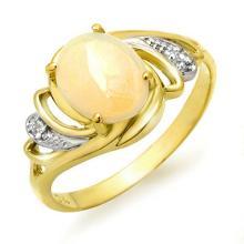 18K Yellow Gold Jewelry 1.05 ctw Opal & Diamond Ring - SKU#U19J4- 90250- 18K