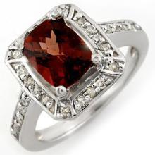 18K White Gold Jewelry 2.40 ctw Pink Tourmaline & Diamond Ring - SKU#U44X2- 1549- 18K