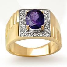 18K Yellow Gold Jewelry 2.75 ctw Tanzanite & Diamond Ring - SKU#U80U2- 90819- 18K