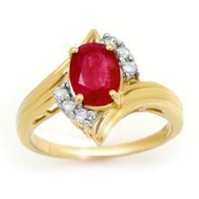 14K Yellow Gold Jewelry 1.80 ctw Ruby & Diamond Ring - SKU#U25U4- 90582-14K