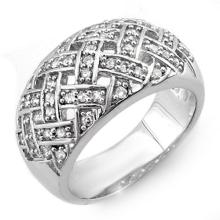 18K White Gold Jewelry 0.50 ctw Diamond Anniversary Ring - SKU#U59A6- 1068- 18K