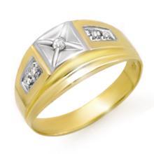 14K Yellow Gold Jewelry 0.12 ctw Diamond Anniversary Men's Ring - SKU#U19Y7- 90519-14K
