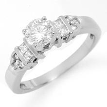 18K White Gold Jewelry 0.77 ctw Diamond Bridal Ring - SKU#U67F2- 1847- 18K