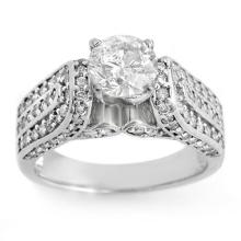 18K White Gold Jewelry 2.25 ctw Diamond Bridal Ring - SKU#U275F6- 1949- 18K
