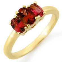 18K Yellow Gold Jewelry 1.18 ctw Pink Tourmaline Ring - SKU#U24R1- 1431- 18K