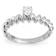 14K White Gold Jewelry 0.25 ctw Diamond Solitaire Ring - SKU#U19S5- 1828-14K