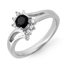 14K White Gold Jewelry 0.53 ctw White & Black Diamond Ring - SKU#U16X9- 99335-14K