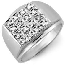 18K White Gold Jewelry 0.50 ctw Diamond Anniversary Men's Ring - SKU#U55G4- 1177- 18K