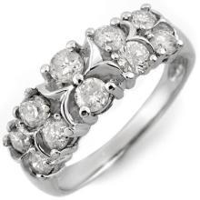 14K White Gold Jewelry 1.25 ctw Diamond Anniversary Ring - SKU#U45Y2- 1373-14K