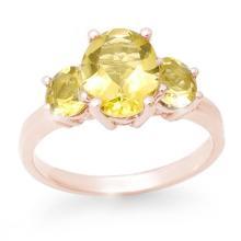 Natural 2.55 ctw Citrine Ring 10K Rose Gold - 13670-#19V5A