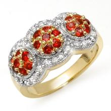 Natural 1.50 ctw Red Sapphire & Diamond Ring 14K Yellow Gold - 10656-#69Y7V