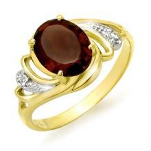 Natural 2.03 ctw Garnet & Diamond Ring 10K Yellow Gold - 12660-#15H2W