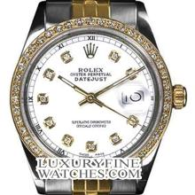 Rolex Ladies 2Tone 14K Gold/ Stainless Steel, Diamond Dial & Diamond Bezel, Saph Crystal - REF#316V4H