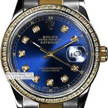 Rolex Ladies 2Tone 14K Gold/ Stainless Steel, Diamond Dial & Diamond Bezel, Saph Crystal - REF#316X4G