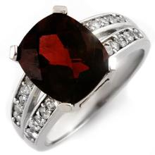 14K White Gold Jewelry 4.47 ctw Pink Tourmaline & Diamond Ring - SKU#U52W2- 1769-14K