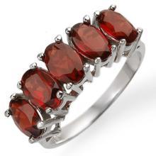 18K White Gold Jewelry 3.0 ctw Garnet Ring - SKU#U16Z7- 1530- 18K