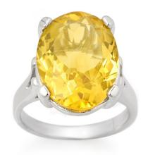 10K White Gold Jewelry 10.0 ctw Citrine Ring - SKU#U26W0- 1382- 10K