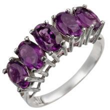 14K White Gold Jewelry 2.0 ctw Amethyst Ring - SKU#U12L2- 1517-14K