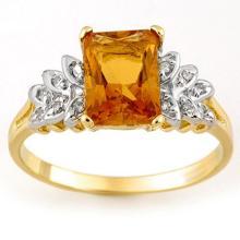 14K Yellow Gold Jewelry 2.12 ctw Citrine & Diamond Ring - SKU#U15U3- 1772-14K