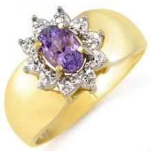 10K Yellow Gold Jewelry 0.70 ctw Tanzanite Ring - SKU#U7K8- 1034- 10K