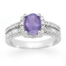 10K White Gold Jewelry 2.25ct Tanzanite & Diamond Ring - SKU#U43X1- 99811- 10K