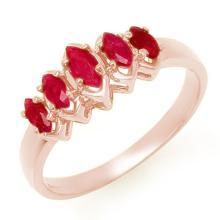 Genuine 0.50 ctw Ruby Ring 14K Rose Gold - 13135-#19T3Z