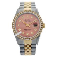 Rolex Ladies 2Tone 14K Gold/ Stainless Steel, Diamond Dial & Diamond Bezel, Saph Crystal - REF#316R4X