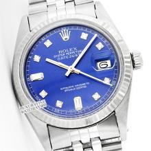 Rolex Men's Stainless Steel, QuickSet, Diamond Dial Fluted Bezel - REF#321R8X