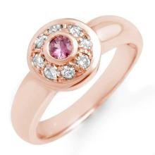 Natural 0.35 ctw Pink Sapphire & Diamond Ring 14K Rose Gold - 13568-#35M2G