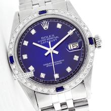 Rolex Ladies Stainless Steel, Diam Dial & Diam/Sapphire Bezel, Saph Crystal - REF#338A2M