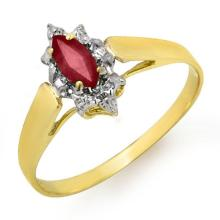 Genuine 0.33 ctw Ruby Ring 10K Yellow Gold - 12871-#8M3G