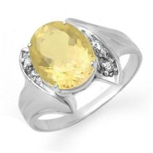 Genuine 1.76 ctw Citrine & Diamond Ring 10K White Gold - 12371-#15G5R