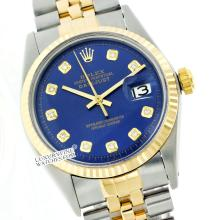 Rolex Ladies 2Tone 14K Gold/ Stainless Steel, Diamond Dial Fluted Bezel, Saph Crystal - REF#201F8W
