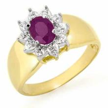 0.4 ctw Amethyst Bridal Engagement Anniversary Ring 10K Yellow Gold, Size 6.5  - REF#11H5J