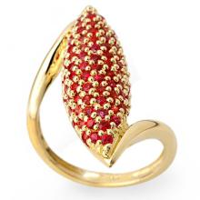 2 ctw Red Sapphire Bridal Engagement Anniversary Ring 14K Yellow Gold, Size 8.75  - REF#54T4Y