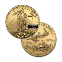Brilliant Uncirculated $50 1oz Gold Coin American Eagle - Random date  - USJL#8466