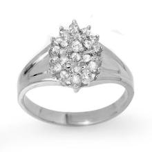 0.25 ctw Diamond Engagement Wedding Anniversary Ring 14K White Gold, Size 7  - REF#23N8M