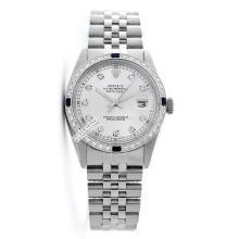 Rolex Ladies Stainless Steel, Diam Dial & Diam/Sapphire Bezel, Saph Crystal - REF#338R2X
