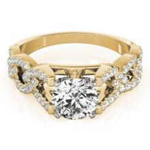 Genuine 1.25 CTW Certified Diamond Solitaire Bridal Ring 18K Yellow Gold - 27836-REF#179G3W
