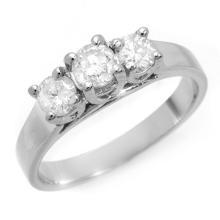 Natural 0.85 ctw Diamond Bridal Engagement Ring 14K White Gold - 10978-#95W7K