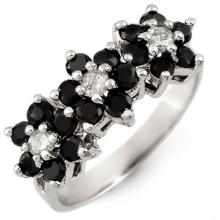 Genuine 1.25 ctw Black & White Diamond Ring 10K White Gold - 13767-#41W3K