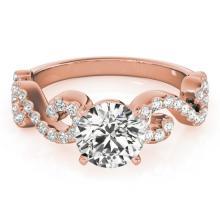 Genuine 1.15 CTW Certified Diamond Solitaire Bridal Ring 18K Rose Gold - 27856-REF#164K4T