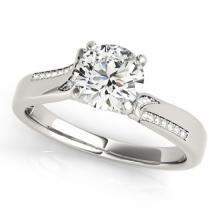 Genuine 0.93 CTW Certified Diamond Solitaire Bridal Ring 18K White Gold - 27906-REF#166K2T