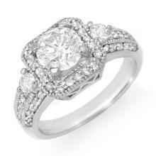 Genuine 2.0 ctw Diamond Bridal Engagement Ring 18K White Gold - 14547-#443Z9P