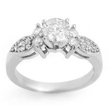Natural 1.07 ctw Diamond Bridal Engagement Ring 14K White Gold - 11344-#129N5F