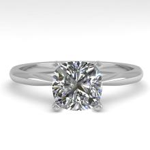 Genuine 1.03 CTW Cushion Cut Certified Diamond Solitaire Engagement Ring 18K Gold - 32429-REF#253Y5V
