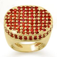 Genuine 7.0 ctw Red Sapphire Ring 14K Yellow Gold - 11678-#146H2W